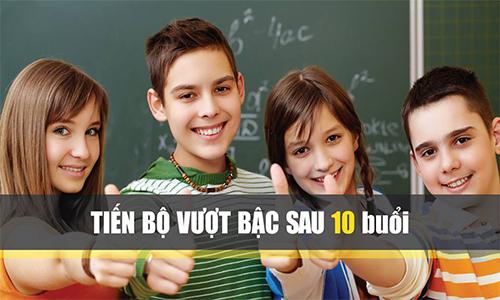 Học thêm toán lớp 8 ở Hà Nội tiến bộ vượt bậc sau 10 buổi học